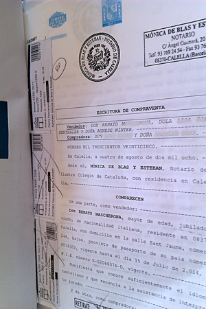Недвижимость испании документ