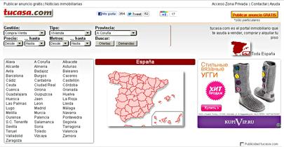 На сайте представленны бесплтные объявления по продаже квартир и домов, гаражей и помещений а так же объявления об аренде контор в Валенсии, Мадриде и Барселоне.